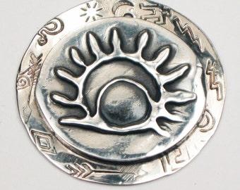 Scottsdale Southwest Del Sol Petroglyph Pendant - Necklace - Keyring - Unique Southwest Gift Necklace - Native American Petroglyph Rock Art