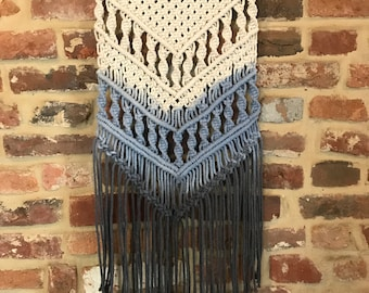 Hand-dyed Macrame Wall Hanging