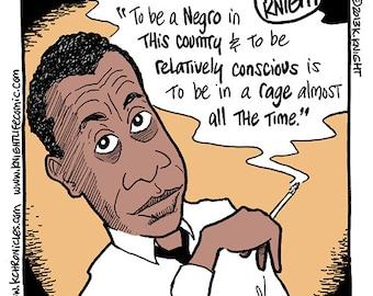 James Baldwin full-color comic strip print