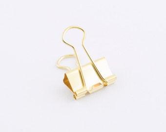 Pince-notes or moyen — Or Bulldog Clip — parfait pour obtenir des papiers