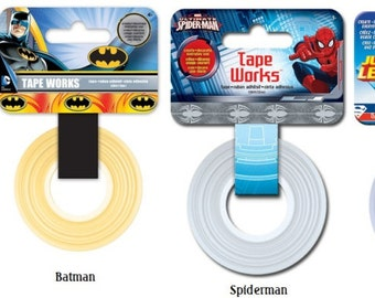 Marvel Heroes Avengers Washi Tape Superman Washi Tape Spiderman Washi Tape or Batman Washi Tape TapeWorks | Super Heroes Tape