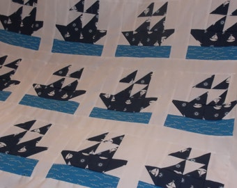 Little Sailor Baby Quilt Top