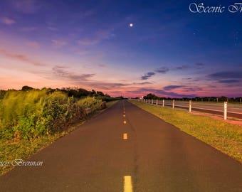 Pre Dawn  sky over Jones Beach Bike Trail