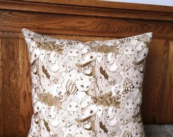 "SALE 16""x16"" Decorative Pillow Cover, Cushion Cover, Throw Pillow, 100% Japanese Linen Fabric, Zip Cushion"