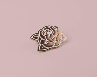 Classic Swarm Rose Lapel Pin (Rose Gold)