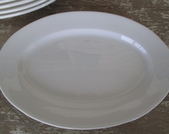 Set Six White restaurant ware platters Restaurant ware Plates Diner Hotel China Simply White Decor Serving Chic Rustic Prairie