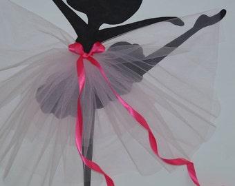 "Large Tutu Ballerina Wall Art. Nursery Decor (24""x30"")"