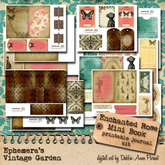 Enchanted Rose 4x6 - Printable Journal Kit