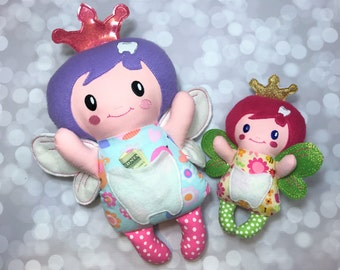 Tooth Fairy / Tooth Fairy Doll / Stuffed Tooth Fairy / Fairy Plush / Tooth Fairy Softie / Soft Toy / Tooth Pocket / Glow in the Dark