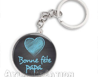 Cabochons glass 25mm #PA_ME028 dad keychain