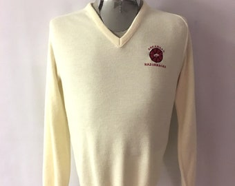 Vintage Men's 80's Arkansas Razorbacks, Acrylic, Sweater, Pull Over (M)