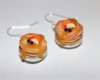 pancake earrings food earrings