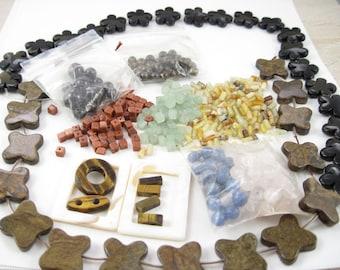 Semiprecious Stone Beads – FREE SHIP – Assorted Destash