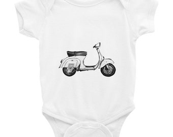 Hipster Baby Clothes Tintabybulka Motorcycle Onesies Cute Onesies Unique Baby Gift Hipster Onesies Newborn boy Coming Home Outfit Vespa