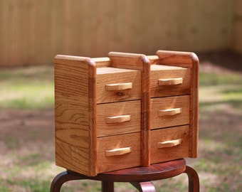Handmade wooden keepsake jewelry box
