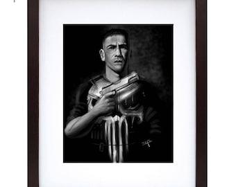 Fine Art Print - The Punisher - Jon Bernthal - Digital Print - Marvel Fan Art - Original Art