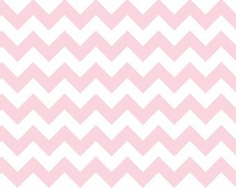 Baby Pink Small Chevron Fabric from Riley Blake Designs - Half Yard - 1/2 Yard - Baby Pink Chevrons