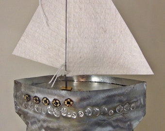 Tinplate  sailboat
