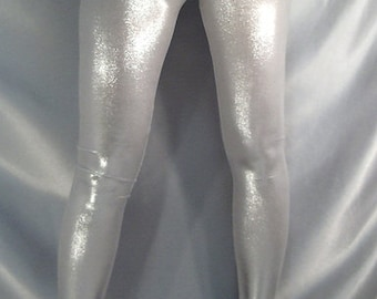 Metallic Shiny Leggings Silver Gold