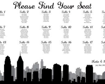 Philadelphia Seating Chart Printable PDF Custom Poster Digital Design Print File ONLY Seating Plan