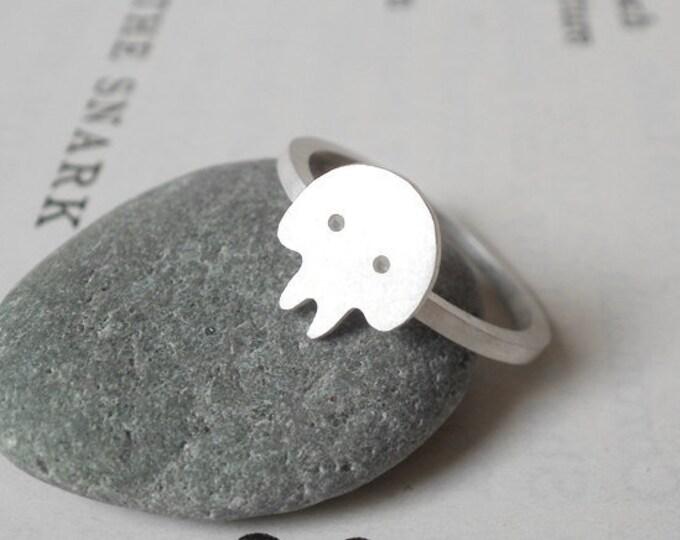 Skull Ring In Sterling Silver, Handmade In UK