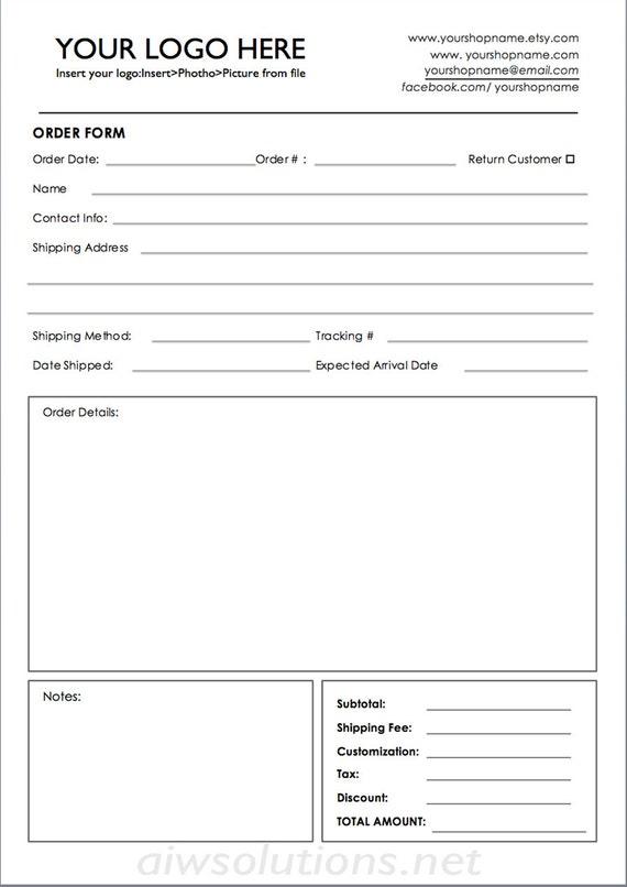 order form Wholesale order form template ms word order form