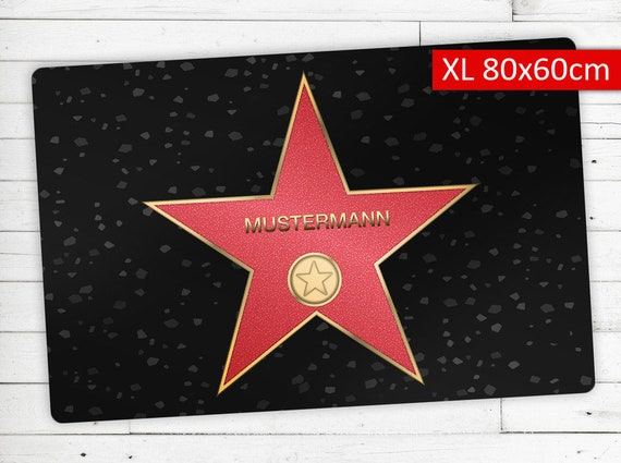 """Doormat with Name your personal """"Walk of Fame"""""""
