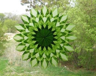 Light Green Sunburst Window Star