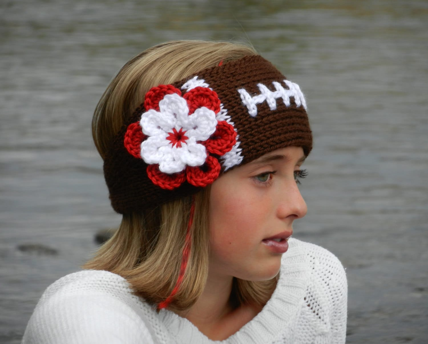 Crochet Football Headband Pattern