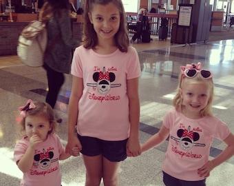 Minnie Plane Appliqué Tshirt vacation tee