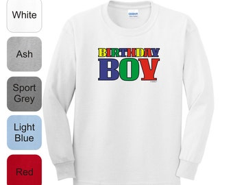 Youth Birthday Boy Long Sleeve T-Shirt 2400B - BD-646