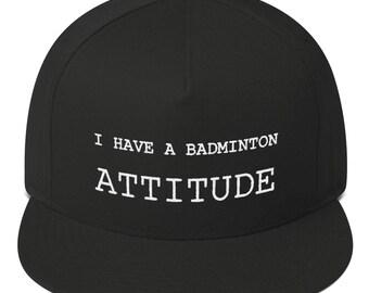 Badminton black snapback I have badminton attitude