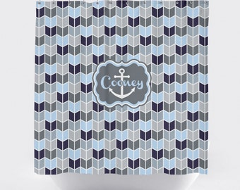 Anchor Nautical Shower Curtain