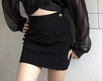 VIVIENNE WESTWOOD 90's a-lined black mini skirt