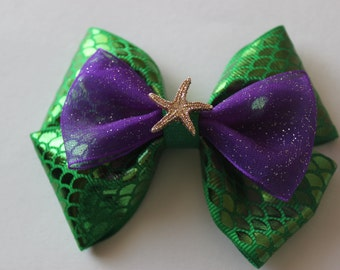 Mermaid Fin Ariel Inspired Bow- SPECIAL EDITION