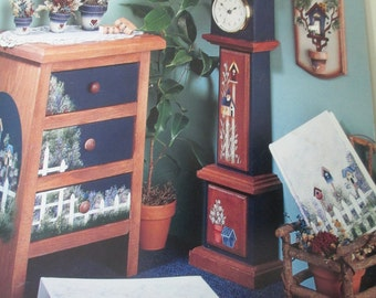 """K Decorative 1997 Folk Art Tole painting """" Kathy's Country Corner"""" by Kathy Morrissey  used book 50 pages"""