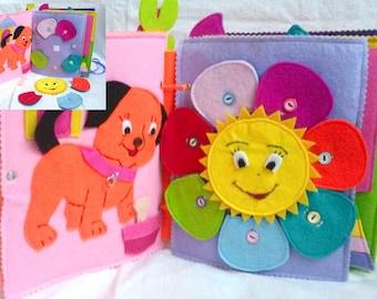 Personalized Quiet book / Busy books / Activity book / Toddler busy book / Personalized gift / Quiet felt book / Montessori toy / Children