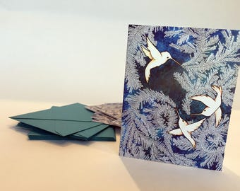 Hummingbird Frost Note Cards - Set of ten