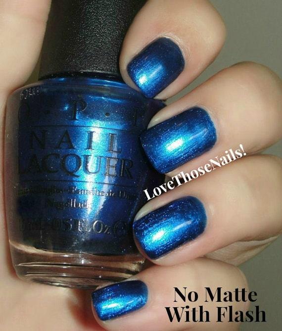 OPI Royal Blue Matte Manicure ~ opi St. Marks The Spot, opi Matte ...