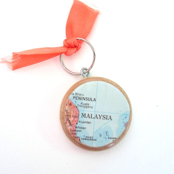 World map keychain - Asia variations