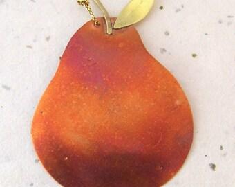 Copper Pear Ornament