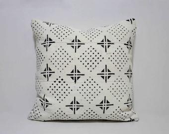 Decorative African Bogolan Mud Cloth Pillows Cover, SKU: MCP-008SQ