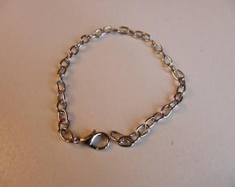 2 bracelets in steel Silver 19 cm x 4 mm