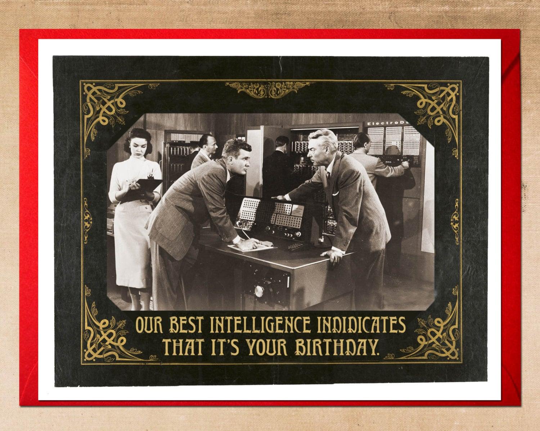 Birthday Card Miltary Inteligence Birthday Cards Black And