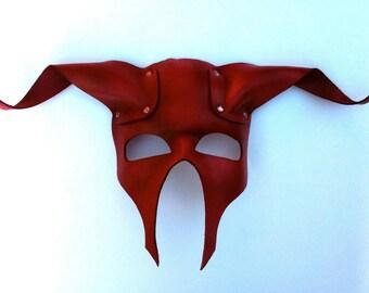 Minotaur Leather Mask