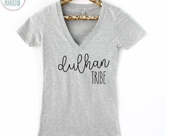 Dulhan Tribe V Neck Tee or Crewneck Tee  - Indian / Pakistani Bride / Dulhan to be / Engaged / Squad Shirt /Set of 2, 4, 6, 8, 10