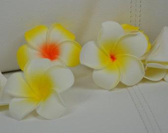 """10 Hawaiian fleurs frangipanier mousse flottante tropicale fleurs de frangipanier, 6 cm, 2 3/8"""""""
