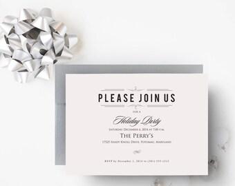 Holiday Party Invitation Printable Christmas Party Invitations Printable