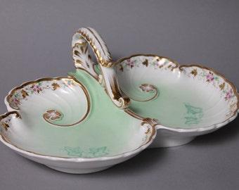 KPM BERLIN German Porcelain Decorative Divided Dish Age 1847- 49