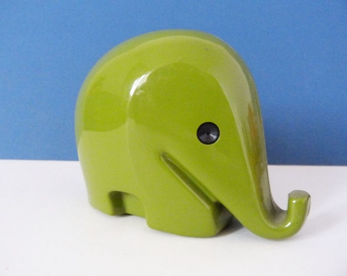 Vintage design classic medium sized Colani Elephant money box without key